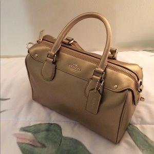 Gold Coach Satchel / Handbag (w/ Shoulder Strap)